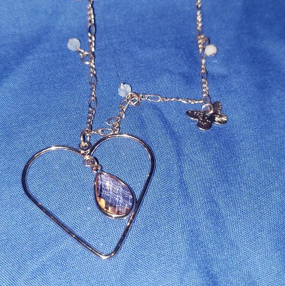 Lauren conrad heart pendant necklace